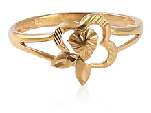 HEART SHAPE RING AT WHOLESALE PRICE IN SOLID 24KT 22KT 21KT 18KT 14KT YELLOW GOLD