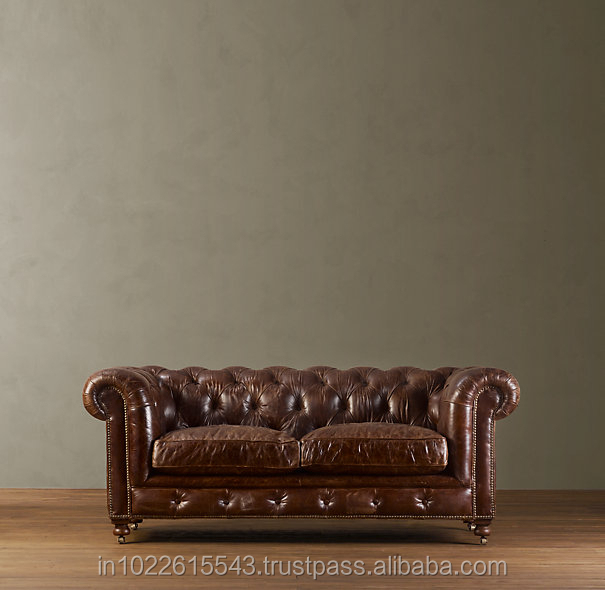 Leather Couch Repair Utah: Antique Chesterfield Leather Sofa Furniture,Arabian