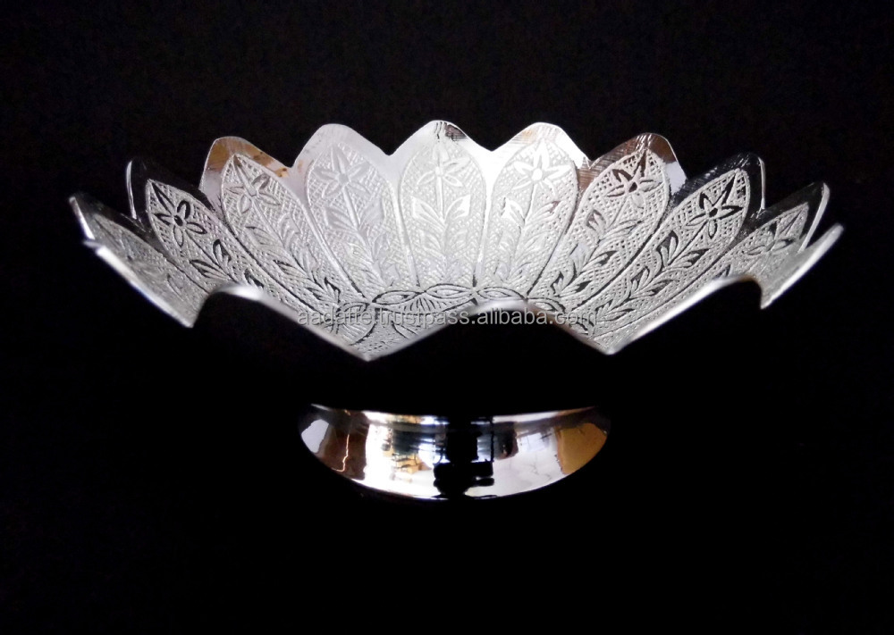 New Design 2015 Gold And Silver Plated Brass Bowl For Wedding Gift
