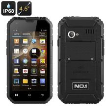 4.5 Inch Rugged Smartphone, Dual SIM, Micro SD Card Slot - Black
