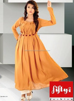 Latest Fancy Stylish Long Frock Style Kurti For Womens