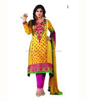 Straight Cut Semi-Stitched Salwar Kameez