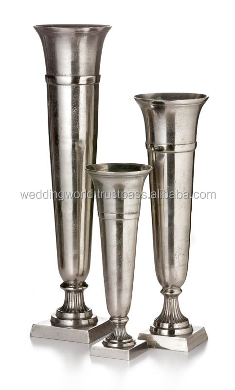 Indian Decorating Metal Vase Silver Metal Vase Buy Outdoor Metal