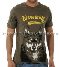 A4 size design chest printed cotton t-shirt