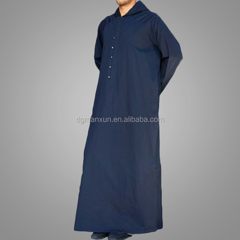 Latest muslim men hooded thobe cheap saudi men thobe3.jpg