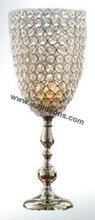 Acrylic beaded bling candle holder tealight lamps for wedding decorations