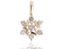 STUNNING PENDANT FEATURING 0.45 CTS NATURAL DIAMONDS IN SOLID BIS HALLMARK 18KT GOLD