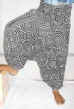 Alibaba Harem Hippie Alladdin Printed Round Jalebi Pattern Unique Pattern Trouser / Harem pants manufacturer from Jaipur
