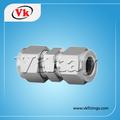 unión de acero inoxidable tubo fraccionada x tubo fraccionada