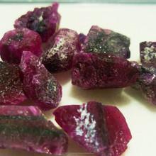 rough burmese ruby purple