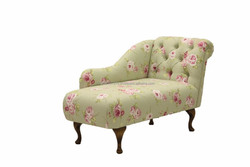 Chaise Longue, Medium - English Rose, Made in Great Britain