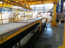 ROOF PANELS COMPLETE PRODUCTION LINE IN DISCONTINUOUS with CANNON HIGH PRESSURE MACHINE