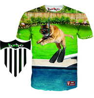Make Your Own Full Sublimation T Shirts Custom Printing With 100% Polyester/3D dye All Over sublimation t shirt/Berg