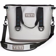 YETI Cooler Hopper 30 Fog Gray/Tahoe Blue- YETI Coolers