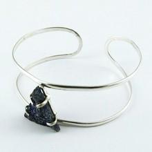 Secret Treasure !! Lapis Druzy 925 Sterling Silver Bangle, Gemstone Silver Bangle, 925 Silver Jewelry