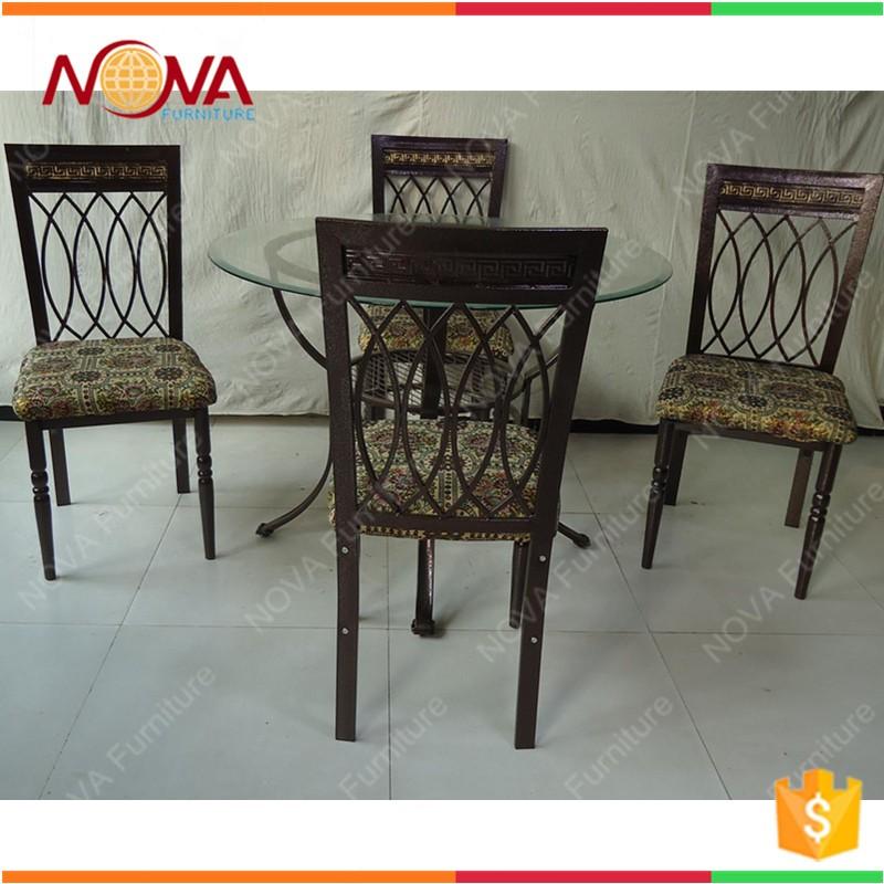 heißer verkauf antike billig metall runde esstisch und stuhl, Esstisch ideennn