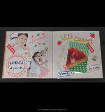 Easy to use writable sex girl photo album with colorful covers made in Japan