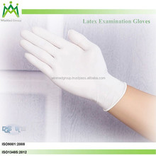 HOT! ISO approved latex examination gloves for medical supply Made in malaysia