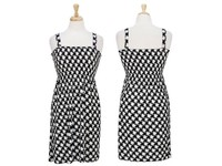 Wholesale Women Houndstooth Strapped Short Dresses