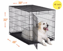 Pet folding Crates Puppy Dog Cat metal foldable cages 48 inch with handle