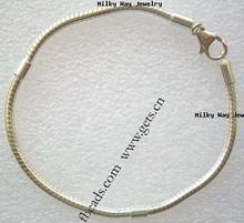 Ottiene. Com 925 14k braccialetto in argento sterling