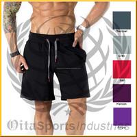 Custom Men's 100% Cotton Jersey Shorts/Mens Wholesale Gym Sports Shorts/Athletic Pants Shorts for Men
