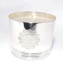 Brass candle cup, soy candle jar, silver finish candle vessels