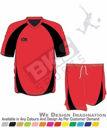 WORLD BEST red black unique design foot ball jersey