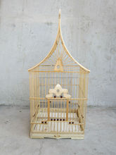 Bamboo Bird Cage, Cute and Thin Bird Cage for Pet with House Shape,