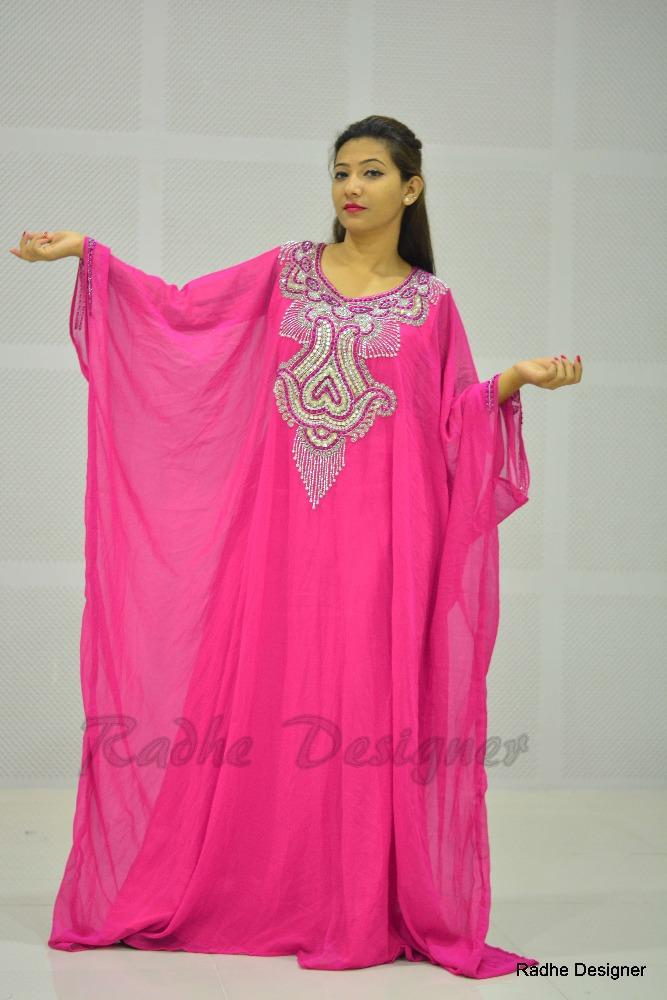 Elegant Kaftan Abaya Islamic Muslim Casual Dresses Women Female Stripe Long