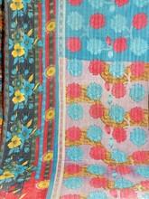 indian old vintage kantha Quilt, Reversible 100% cotton Quilts/Throw/Blanket/Gudari