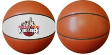 Custom logo basketballs in leather
