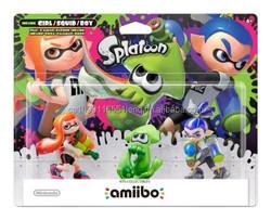 Brand New Amiibo Nintendo Splatoon Inkline Girl Squid Boy 3PK Figures For Wii U