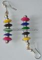 multicolor mar de fantasía pendiente de concha
