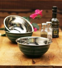 201s/s Colourful Stainless steel finger bowl with flat cover/bowl with lid/wash bowl