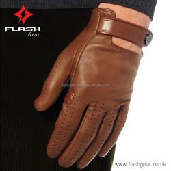 Brow Leather deiver Gloves, Men fashion Driver Leather Gloves cow Leather gloves-OEM-ODM original leather unlined Driver Gloves