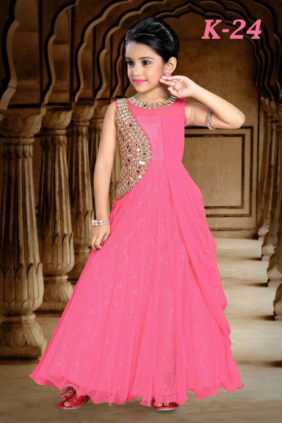 Indian Wear Gown For Girls - Buy Embroidered Gown For Girls,Evening ...