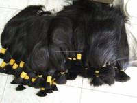 Straight and remy, virgin high quality Viet Nam bulk human hair 50 cm