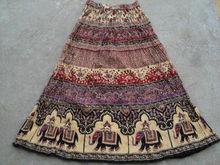 Vintage jupes longues en coton vêtements de loisirs dames vêtements africainjupes pour filles wo