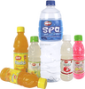 Fresh fruit juice pack in fruit shape bottle