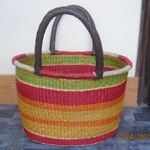 Eco-friendly, traditional, Color seagrass bag, beach bag, straw bag, beautiful, good price made in Vietnam