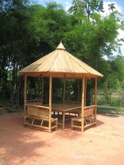 Bambou naturel gazebo et meubles en bambou pas cher prix belv d re id de pr - Gazebo a vendre pas cher ...