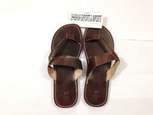 2015 fashion Soft Leather New Summer Brown Jesus Sandals & Chappl