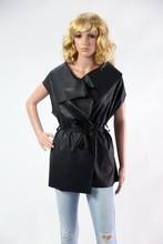 Autum 2015 faux leather, sleeveless jacket