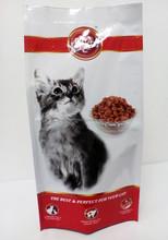 4 side seal pet food bag,high quality dog food four side seal packaging bag, customized cat food 4 side seal bag