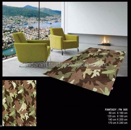 Camouflage patterned loop cotton carpets at discounted rates.jpg