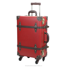 antique metal suitcase trolley ykk zipper abs luggage travel suitcase trunk with wheels travel bag