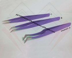 Finest Quality Eyelash Tweezers / Stainless Steel Eyelash Tweezers MARIG SURGICAL CO