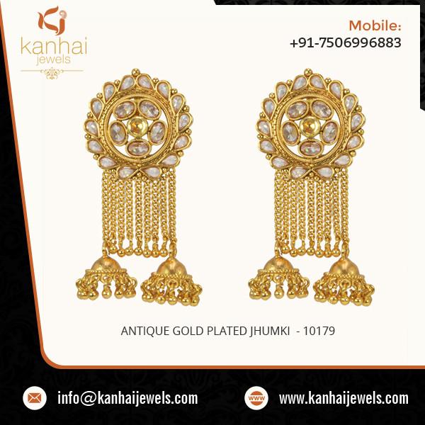 Antique Gold Plated Jhumki 2.jpg