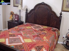 Embroidered Duvet Set/Bedding Fashion Printed Embroidered India Bedding Decorative Handmade Kutch Bedspread bedsheet